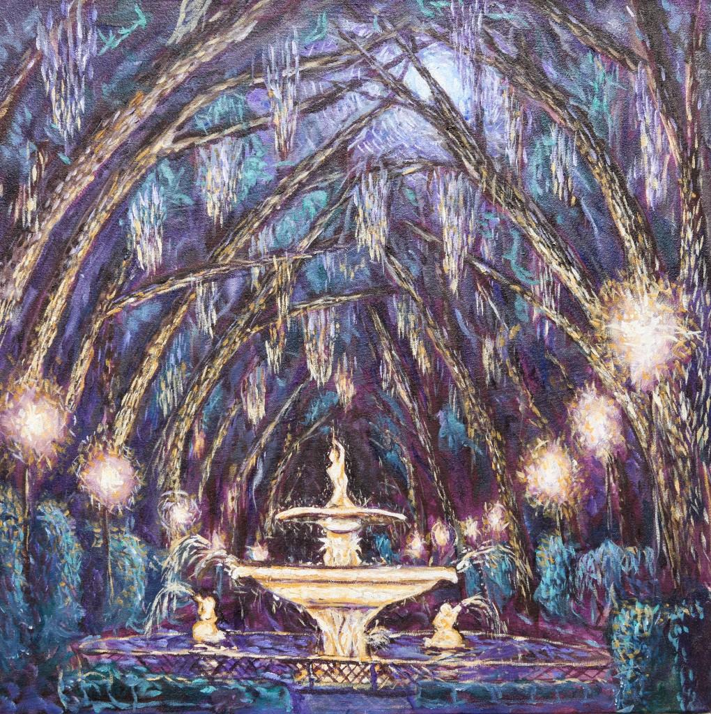 Forsyth Park by Moonlight